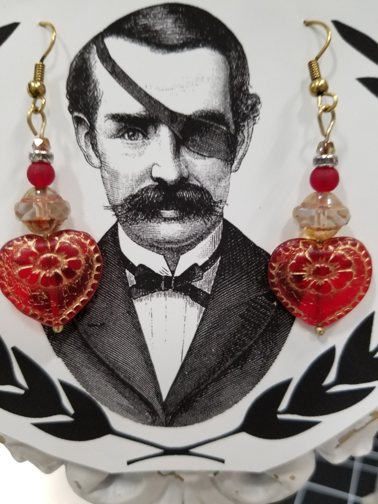 Historical Heart Earrings