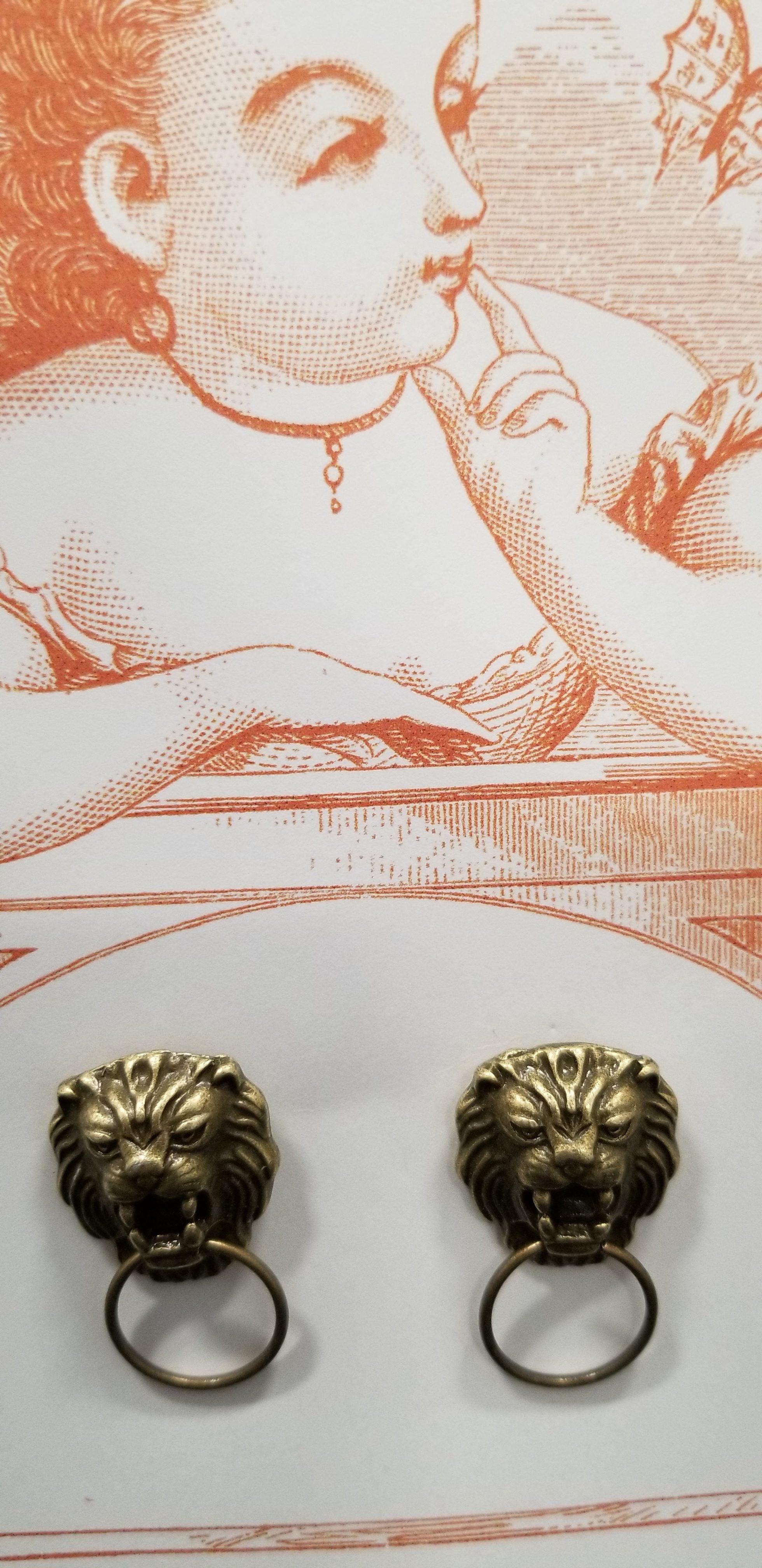 Picture of: Lion Door Knocker Earrings Behold Jewelry Designs West Hartford Ct