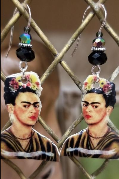 Frida Kahlo Flower Hair Earrings