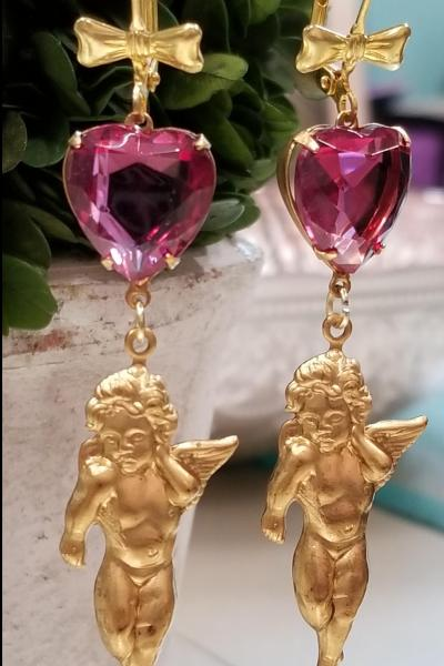 Cherub Heart Earrings