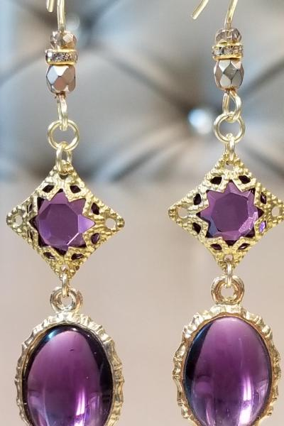 Byzantine Purple Passion Earrings