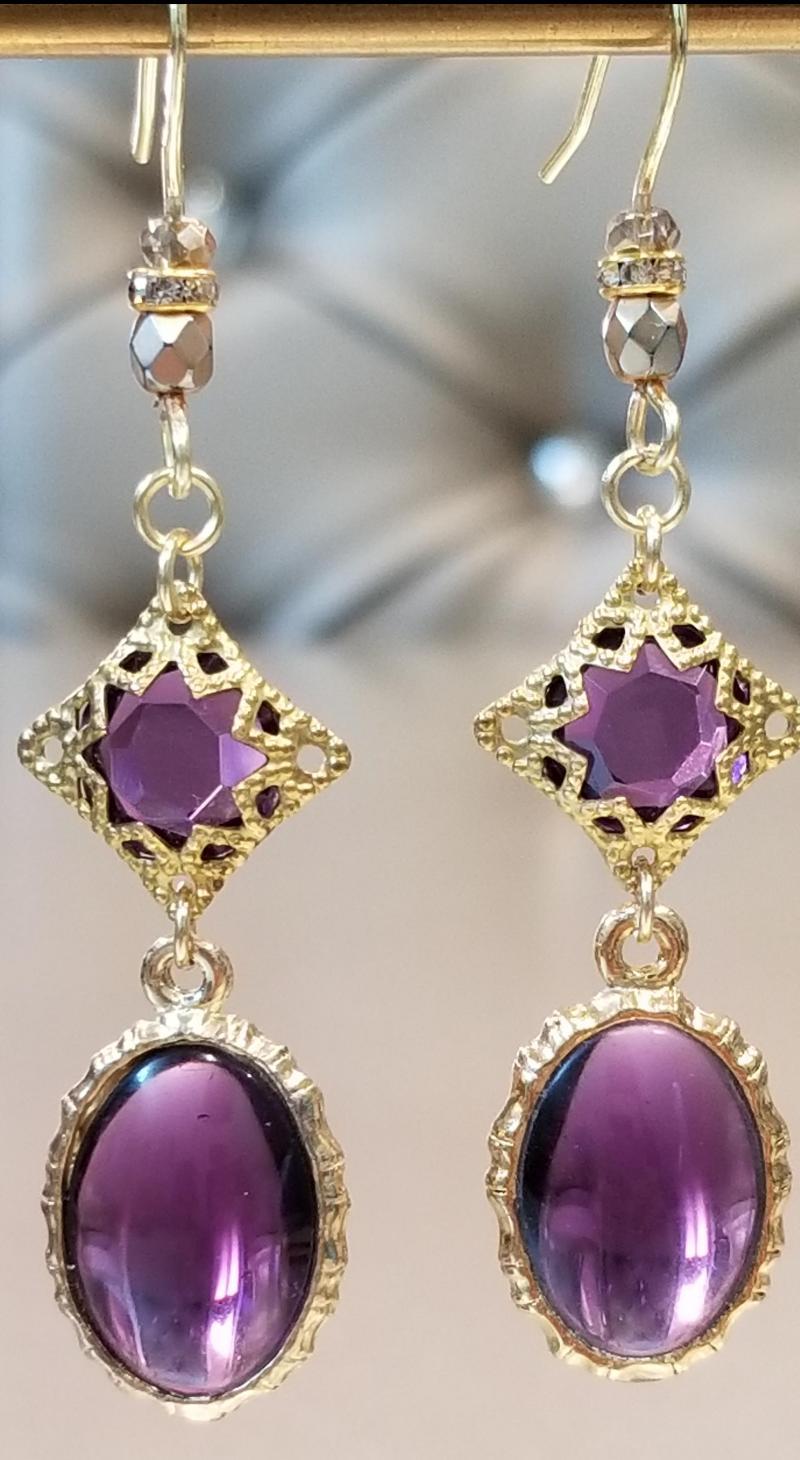 Byzantine Purple Passion Earrings