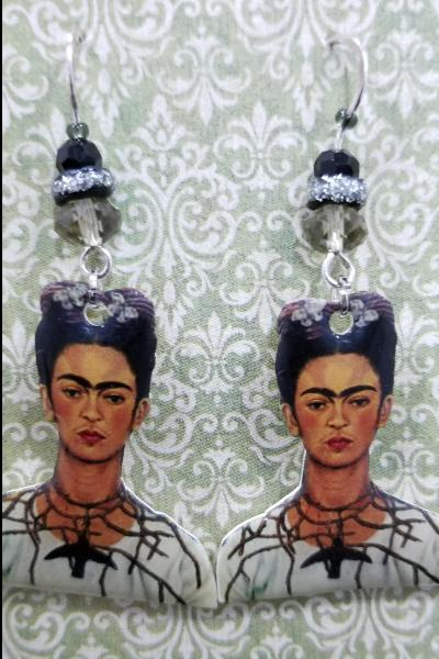 Frida Kahlo Hummingbird Thorn Earrings