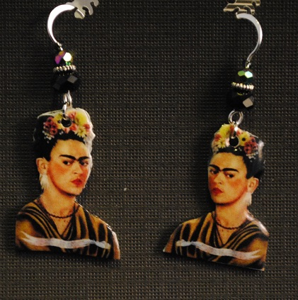 Frida Kahlo Flower Hair Earrings