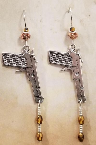 Gun and Bullets Earrings