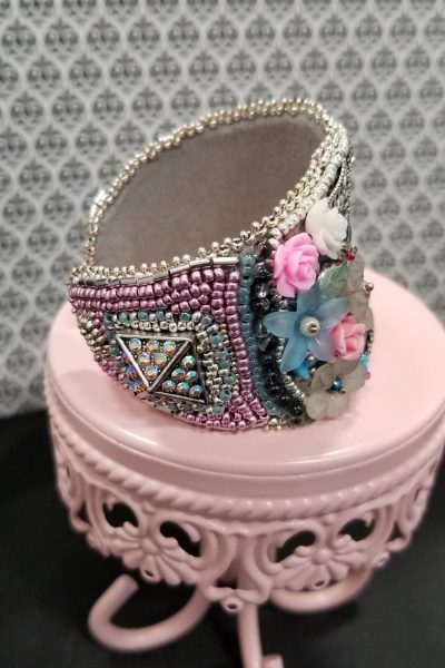 Marie Antoinette Bead Embroidered Cuff
