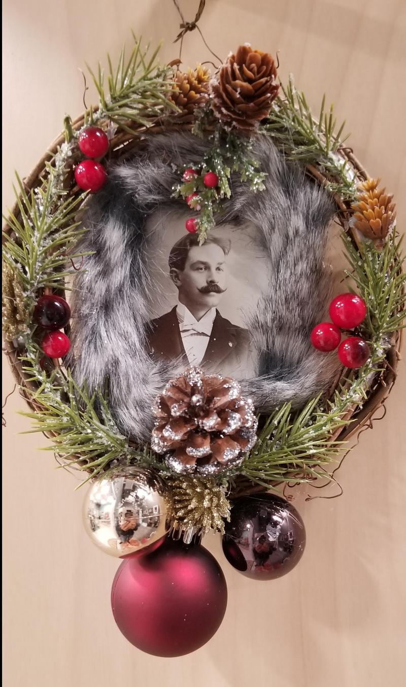 Mustached Gentleman Mini Wreath