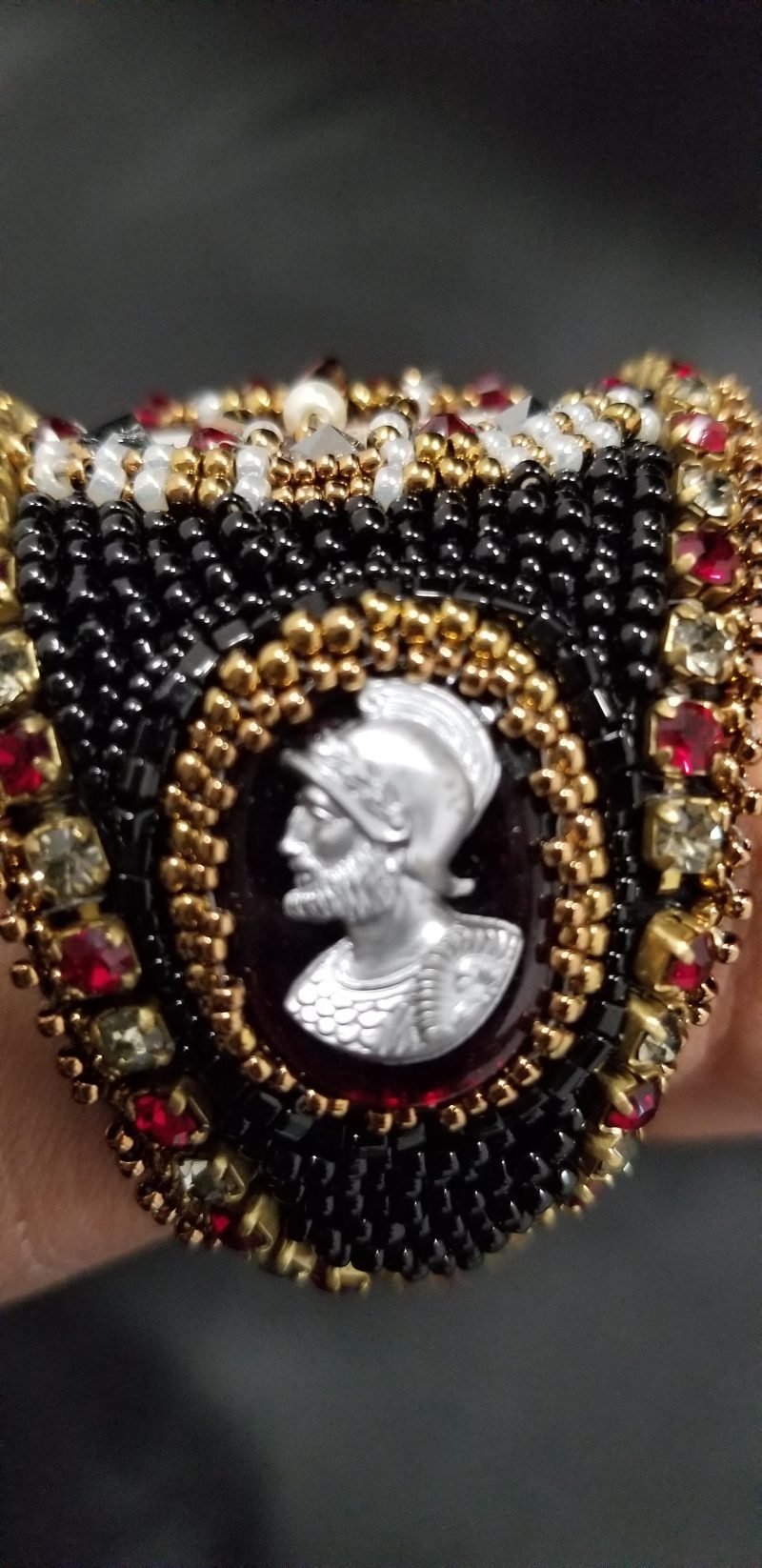 Queen Elizabeth I Bead Embroidered Cuff Bracelet