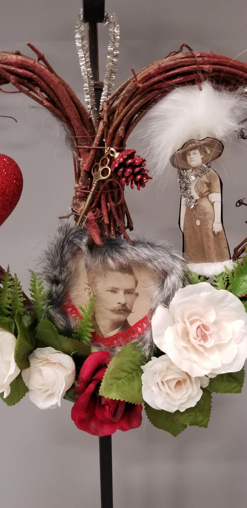 Secret Admirer Victorian Heart Wreath