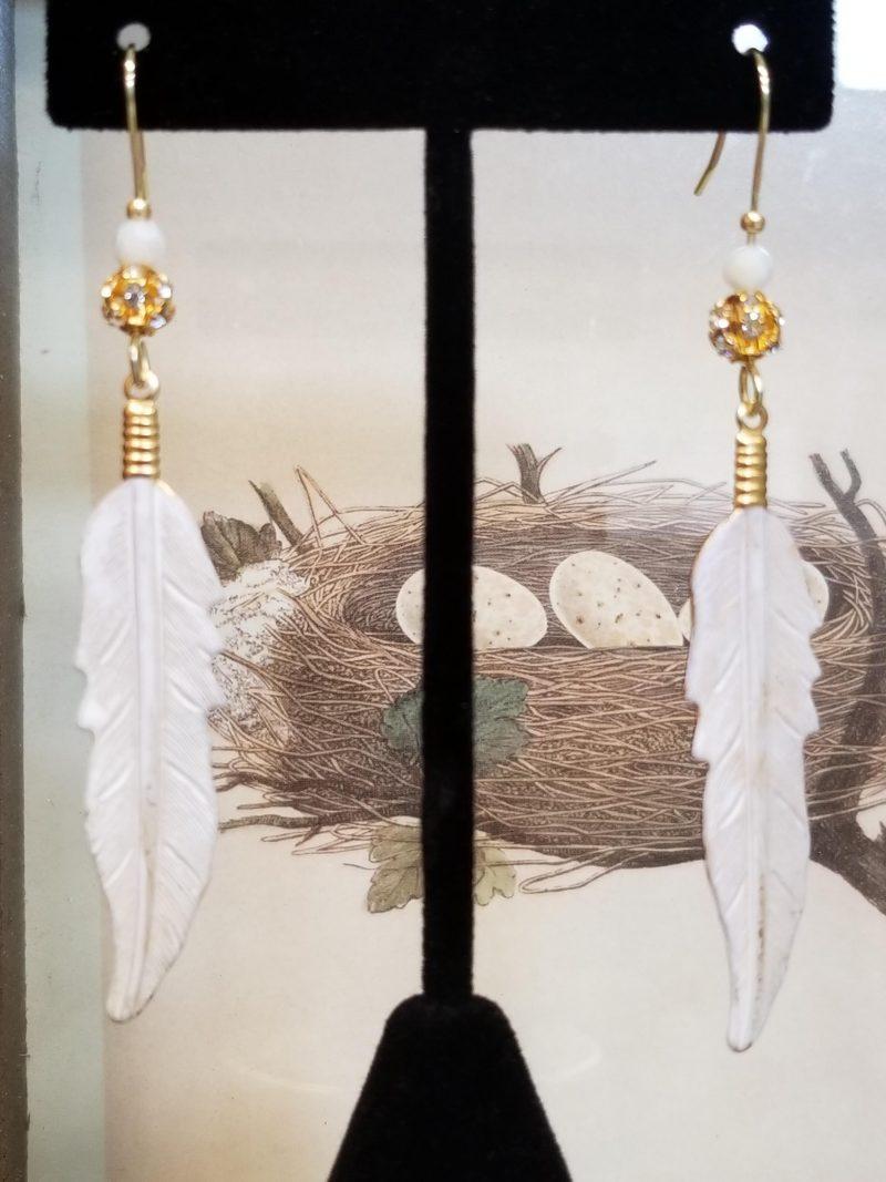 Feather Dangle Earrings