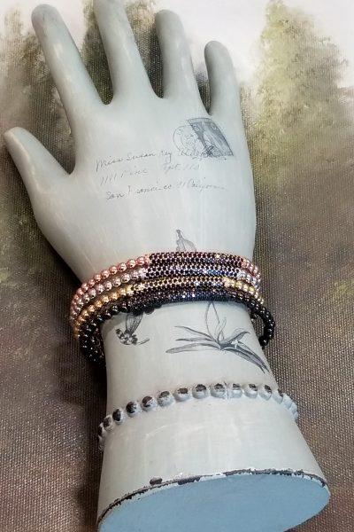 Pave Bead Stretchy Bracelet