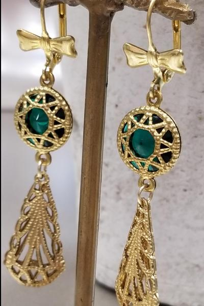 Star Filigree Drop Earrings