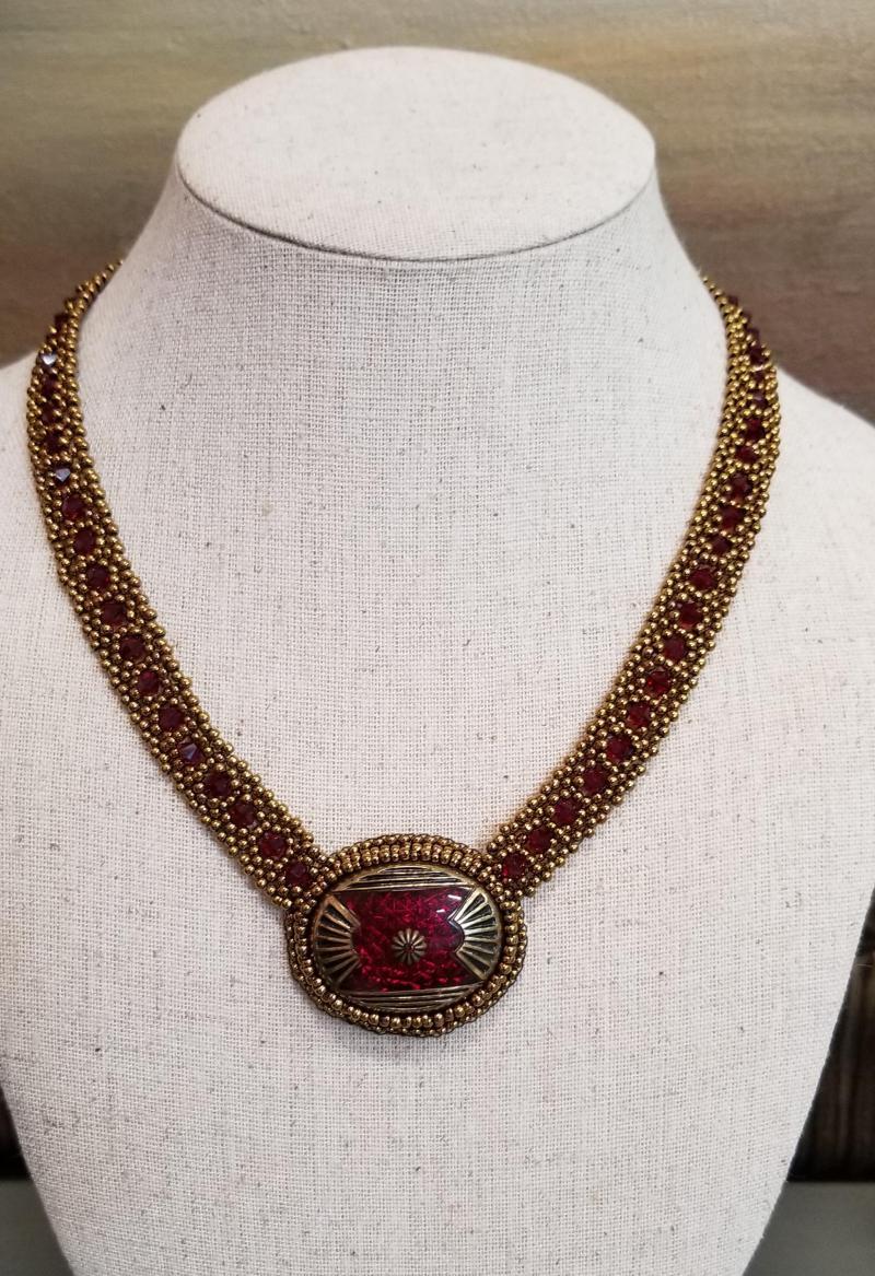 Empire Art Deco Beaded Necklace