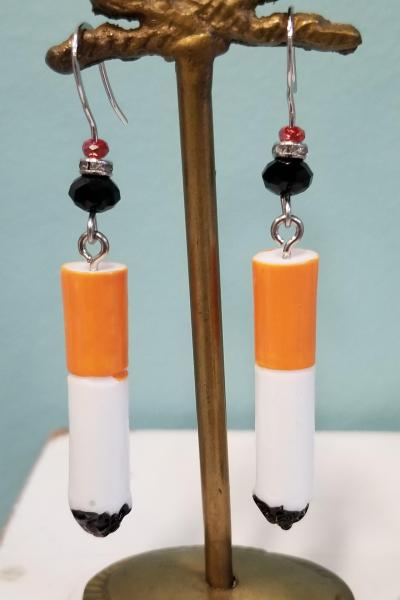Cigarette Butt Earrings