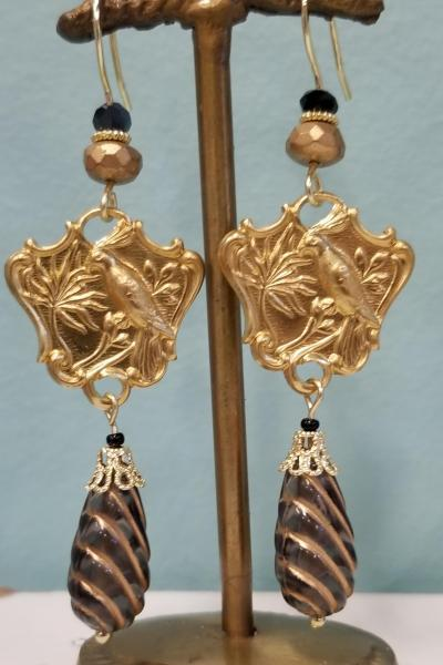 Tropical Bird Dangle Earrings