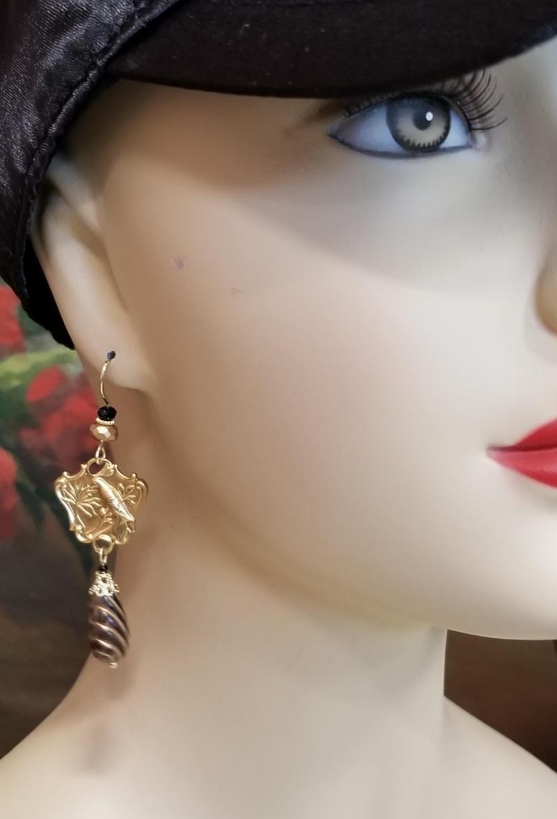 Tropical Bird Dangle Earrings