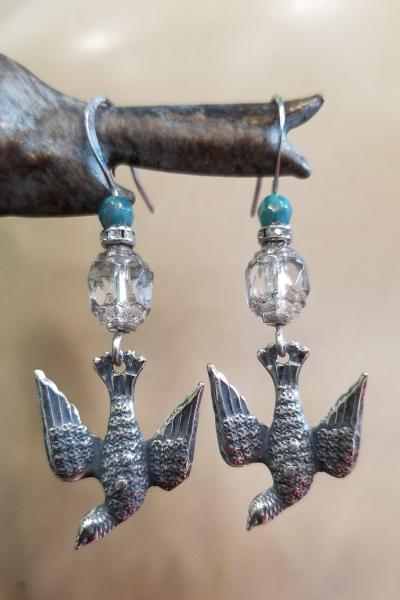 Diving House Martin Bird Earrings
