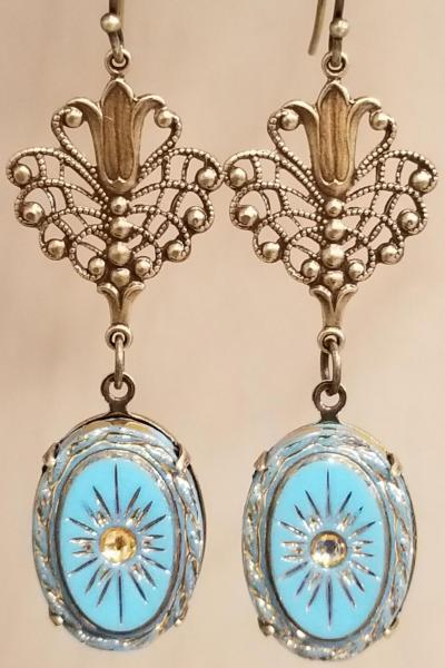 Antique Heirloom Earrings (Turquoise)