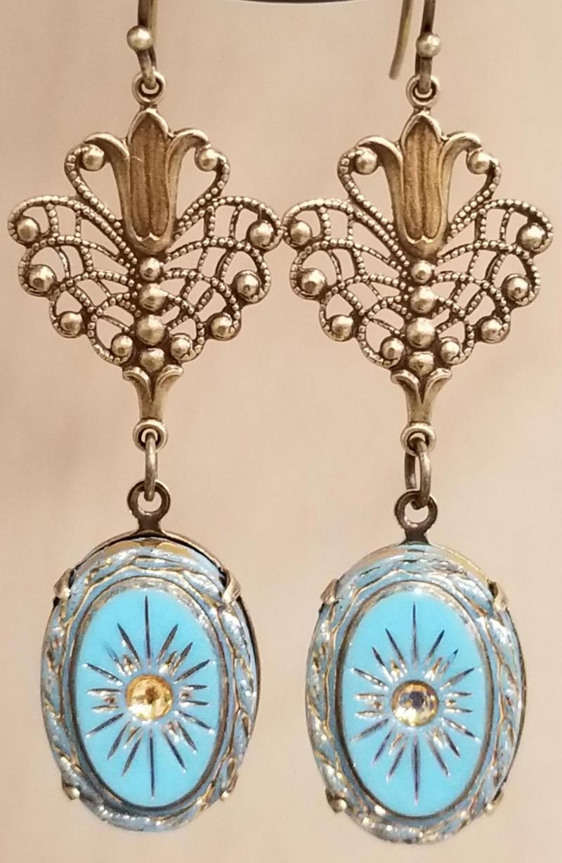 Antique Heirloom Earrings (Turquoise)