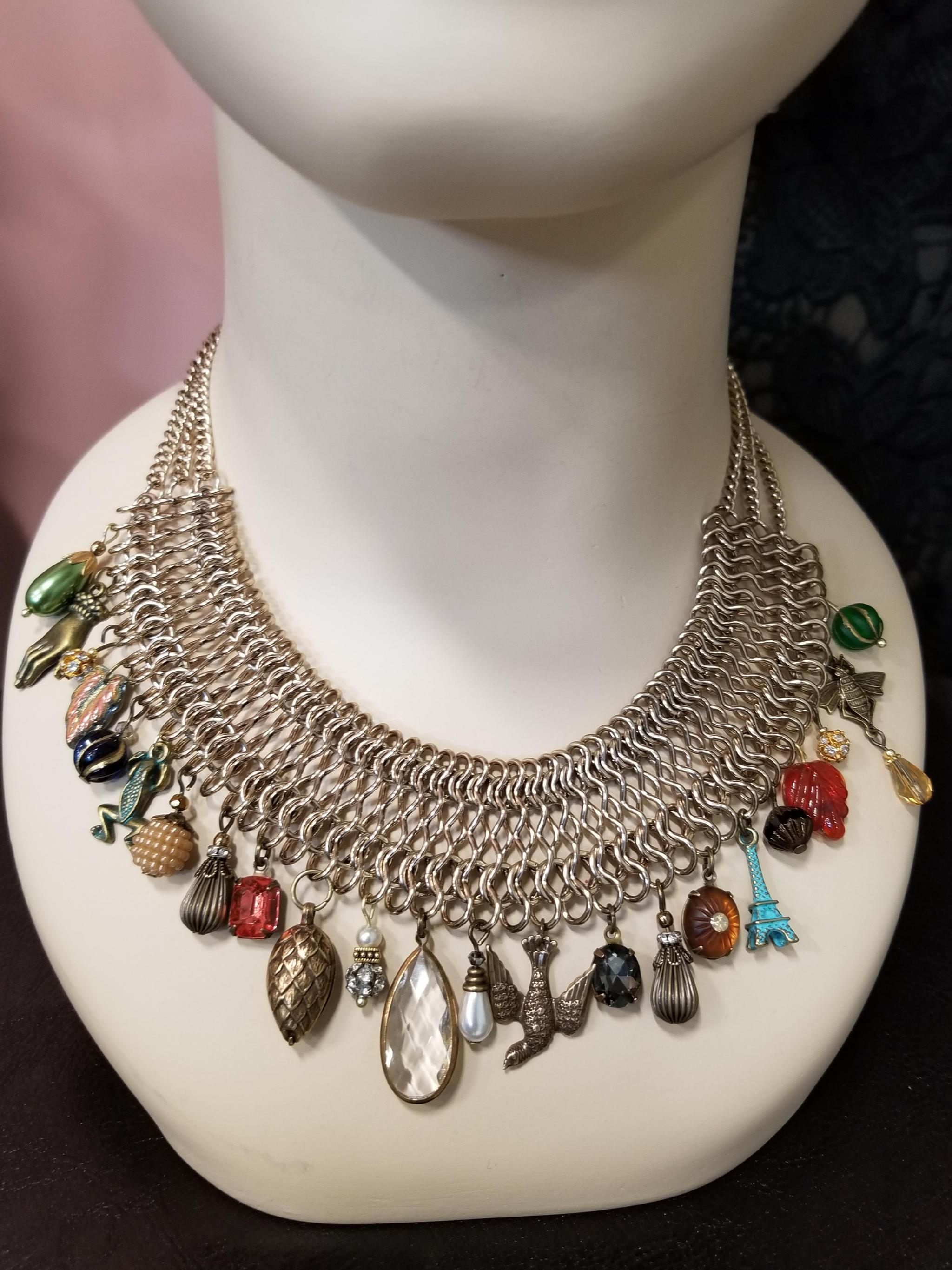 victorian charming chainmaille necklace behold jewelry designs