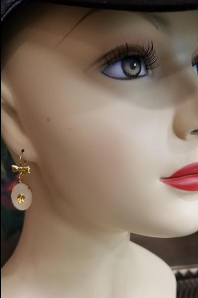 Citrine in the Ruff Earrings
