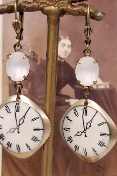 Clockface Earrings