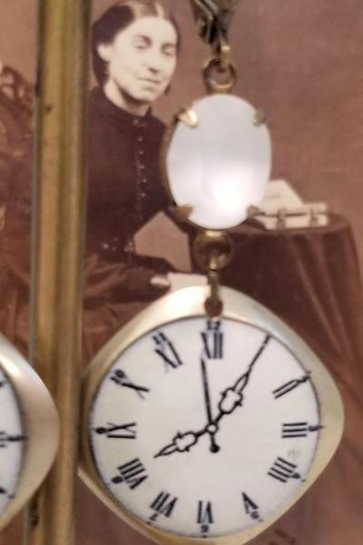 Clockface Earrings
