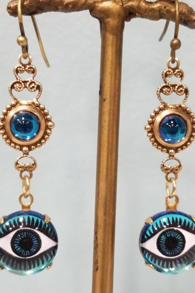 Enchanting Eyes Earrings (Blue)