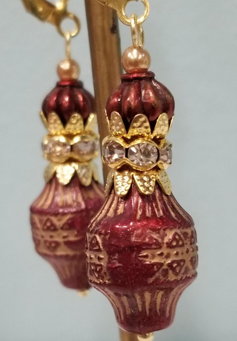Mahogany Lantern Earrings