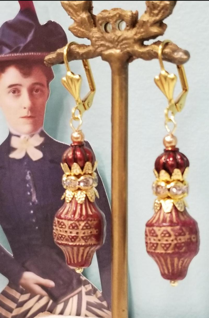 Mahogany Lantern Earrings