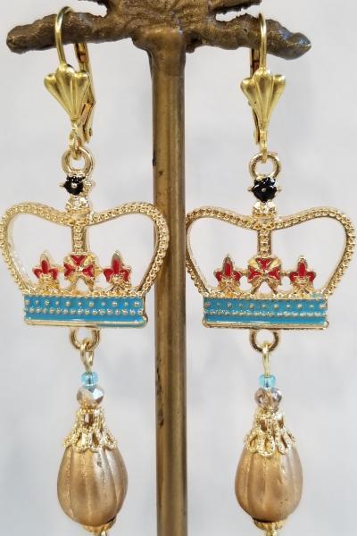 Royal Crown Earrings