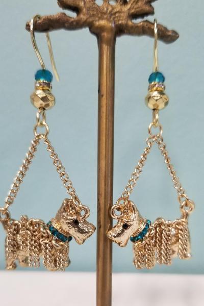 Scottish Dog Charm Earrings