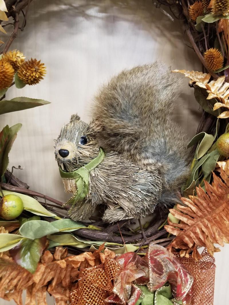 Fall Squirrel Wreath
