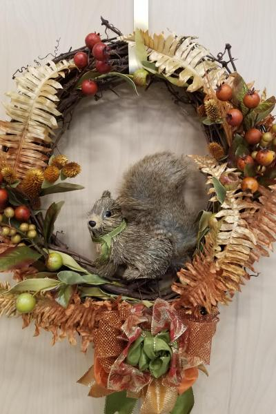 Fall Squirrel Wreath