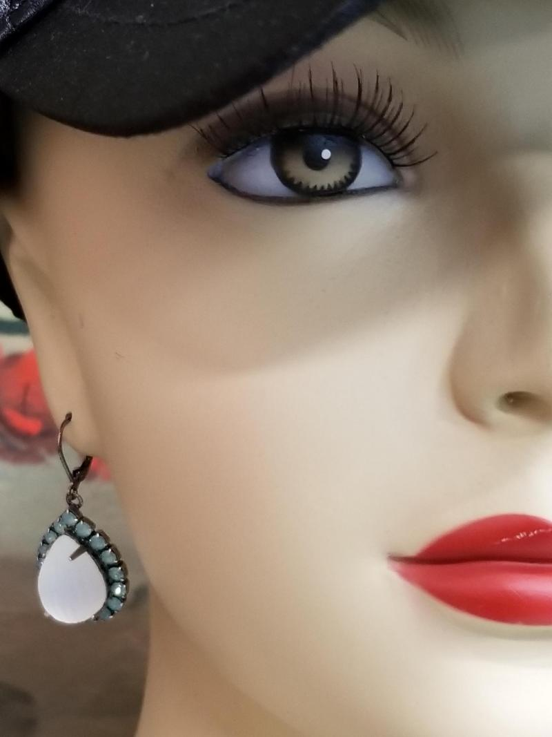 Pacific Opal Bollywood Earrings