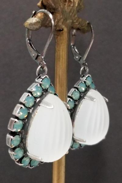Pacific Opal Bollywood Earrings