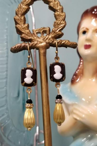 Petite and Sweet Cameo Dangle Earrings