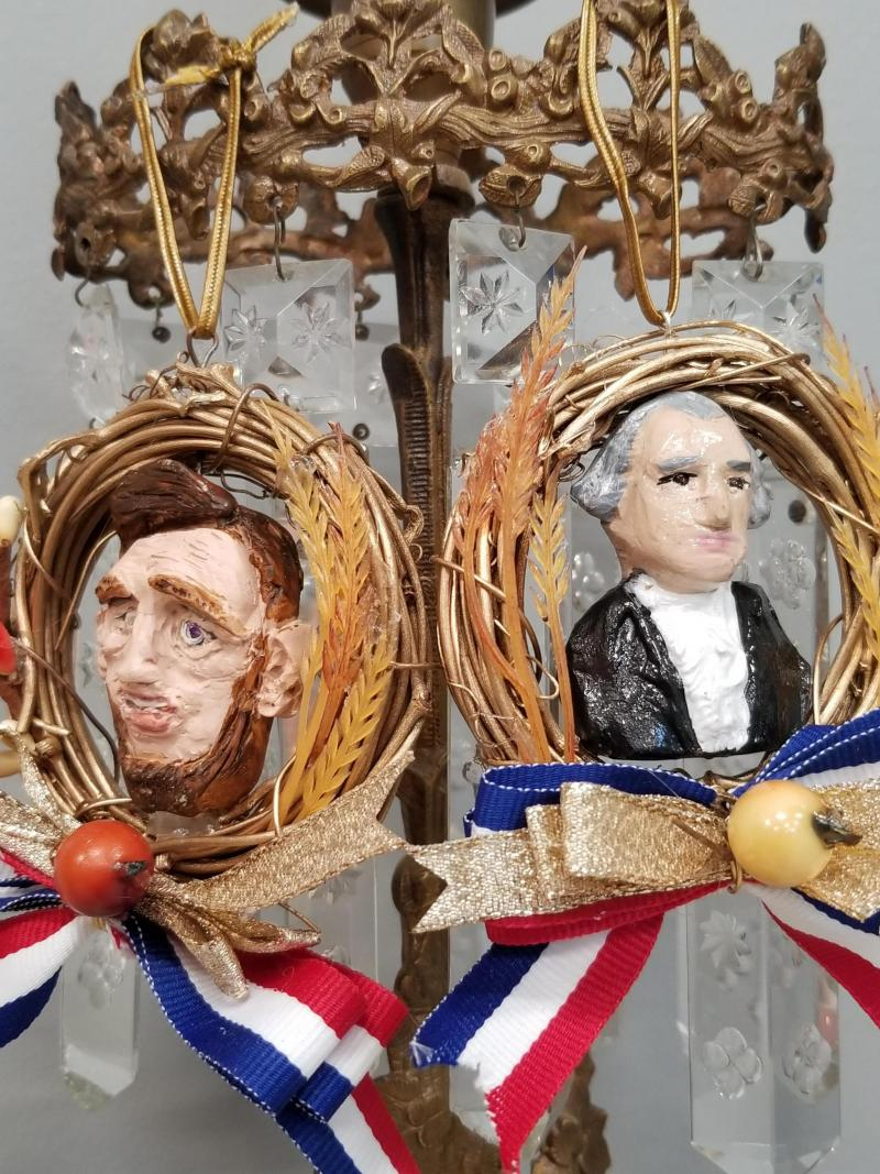 George Washington Mini Wreath Ornament
