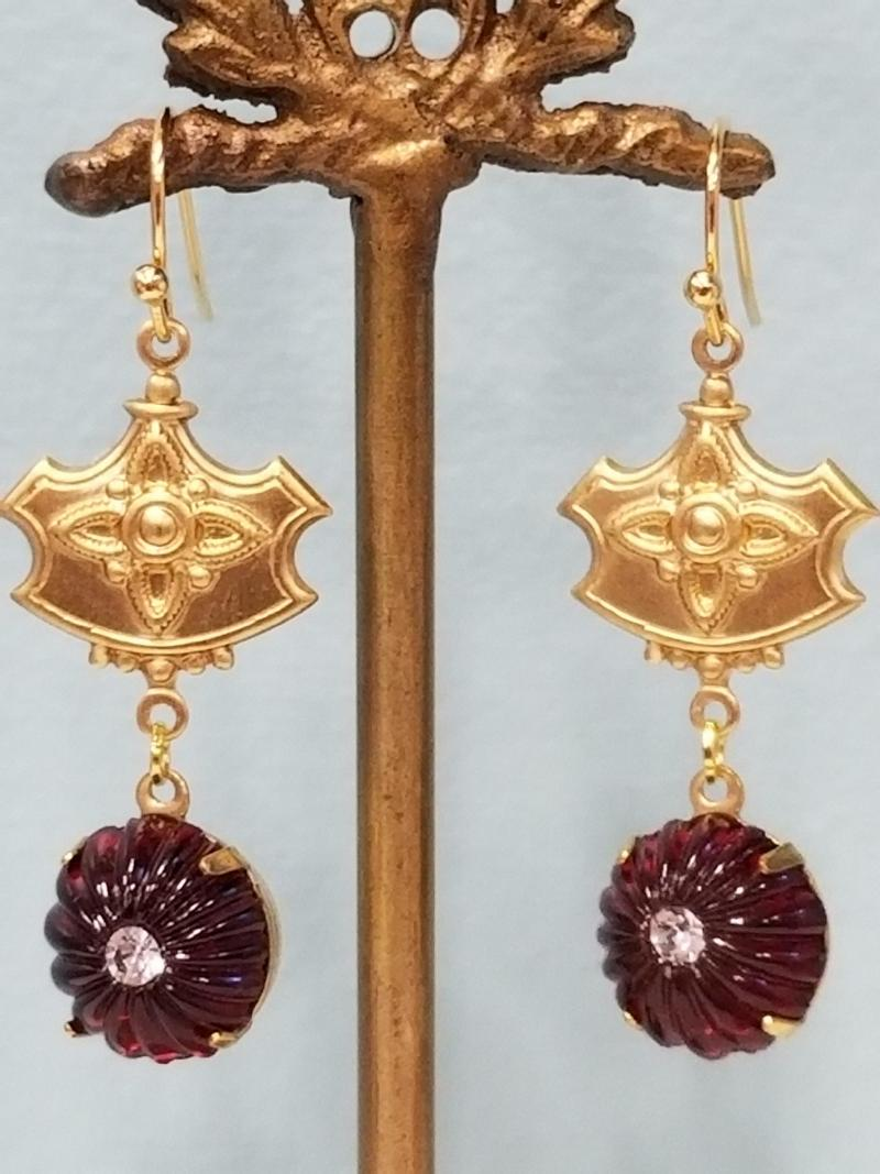 The Princess and the Pomegranate Earrings