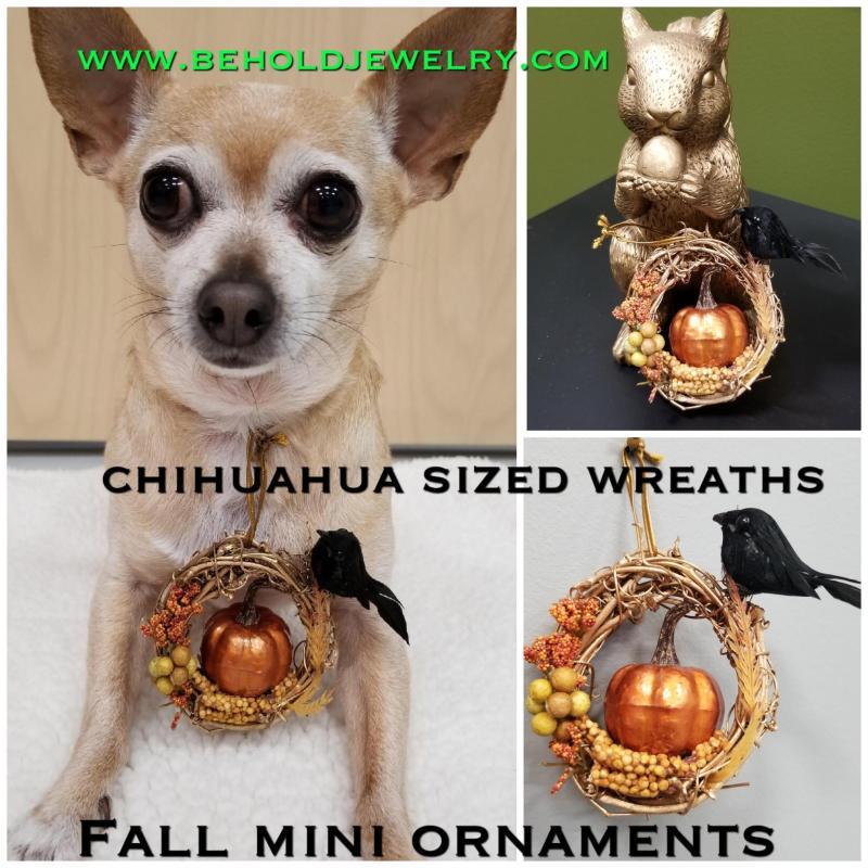 Fall Pumpkin Mini Wreath Ornament