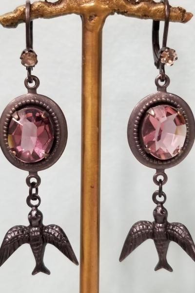 Amethyst Aviary Earrings
