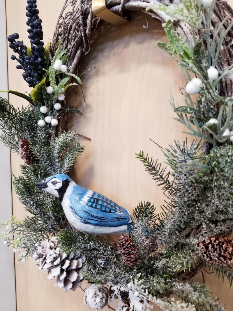 Blue Jay Winter Wreath