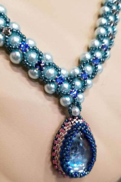 Eat Cake Turquoise Pearl Necklace