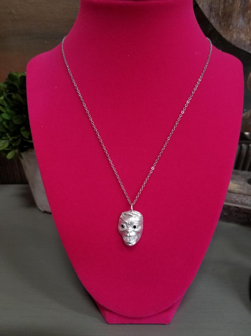 Sassy Man with Sparkling Smile Pendant and Necklace