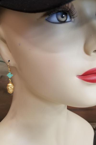 Who's Your Sensei Fu Manchu Earrings (Jaded Jade)