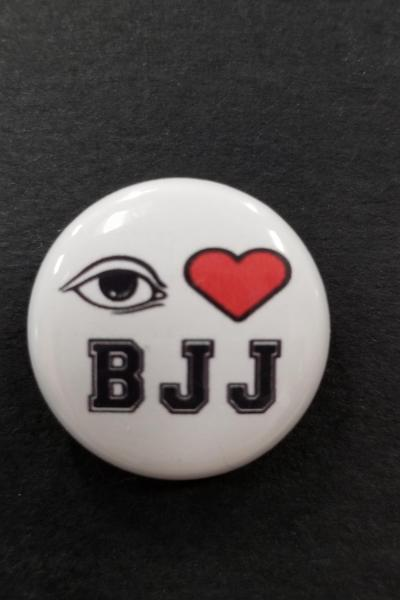 I LOVE BRAZILIAN JIUJITSU (Blackbelt) PIN