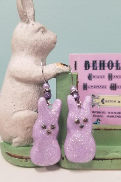 Light Purple Bunny PEEPS Earrings