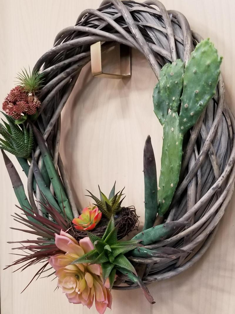 Succulent and Cactus Wreath