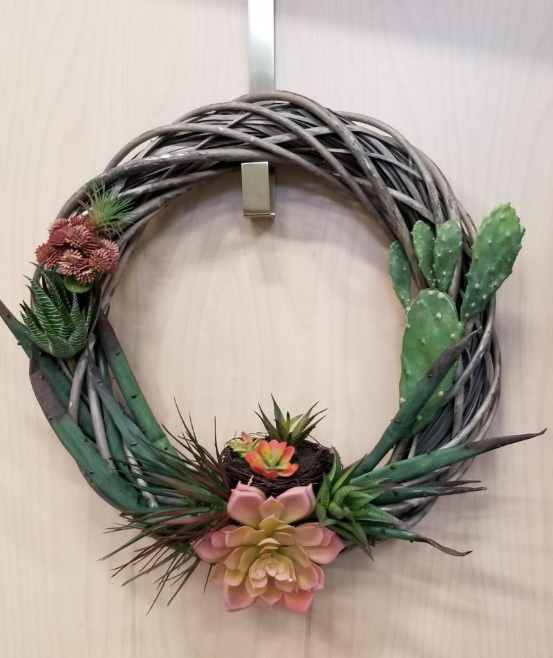 Succulent and Cactus Wreath