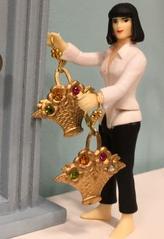Victorian Flower Basket Earrings